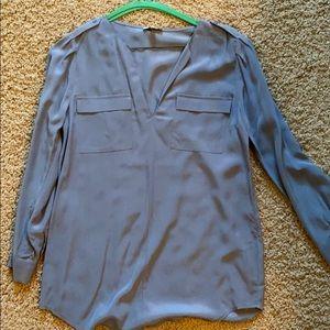Gray/silver blouse